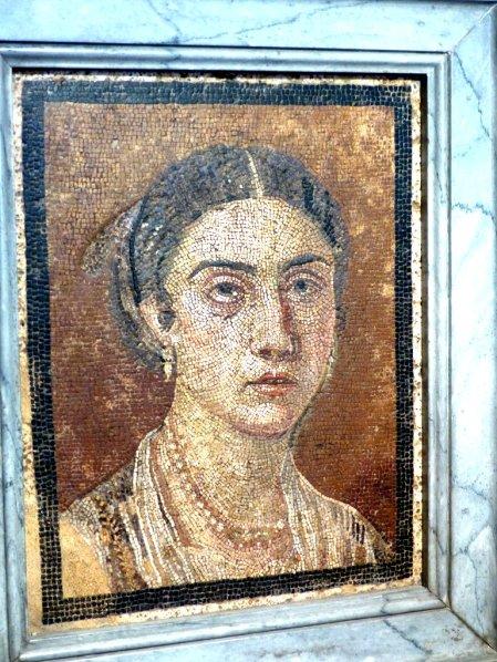 Mosaikbild einer schönen Pompejanerin
