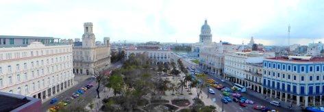 Blick auf Innenstadt vom Hotel aus