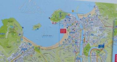 Übersichtskarte von San Sebastian