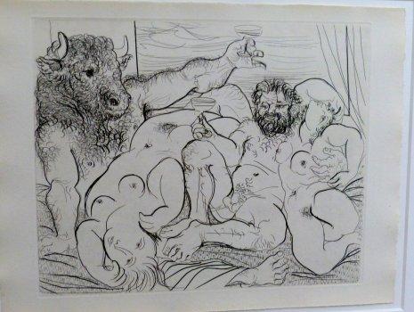 Pablo Picasso, Bacchantische Szene mit Minotaurus