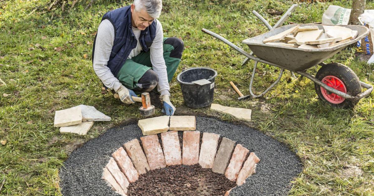 Feuerstelle bauen  Mein schner Garten