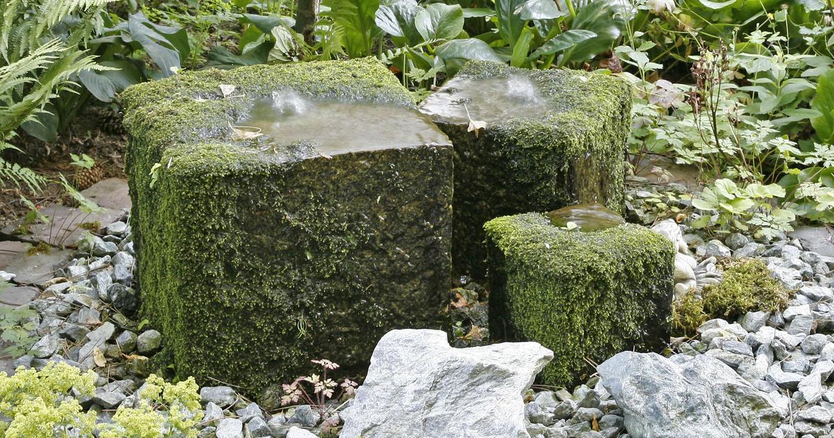 Quellstein im Garten installieren  Mein schner Garten