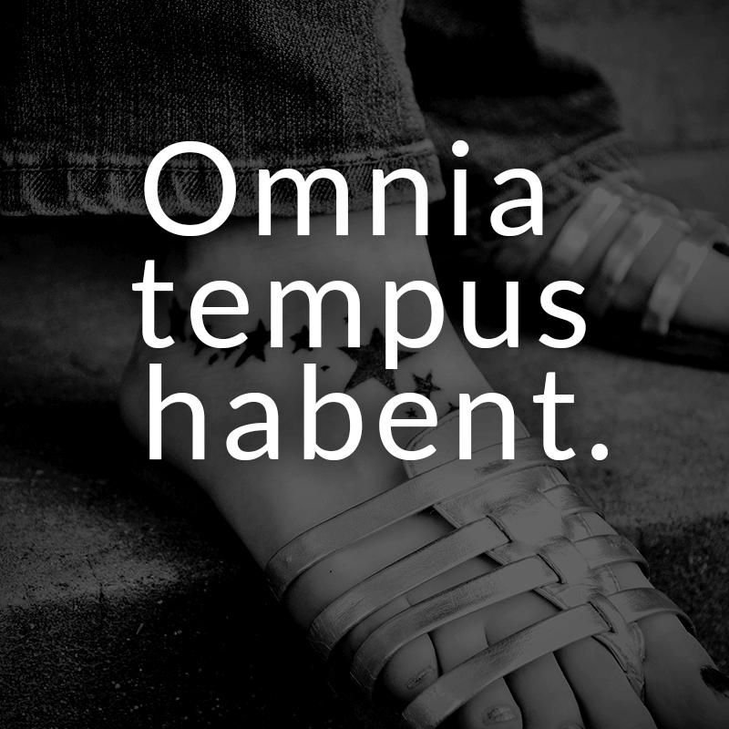 Omnia Tempus Habent Lateinisch Fur Alles Hat Seine Zeit