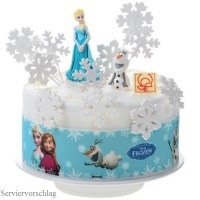 Fondant-Bordre, Frozen-Eisknigin, 90 cm lang 6,6 cm hoch ...
