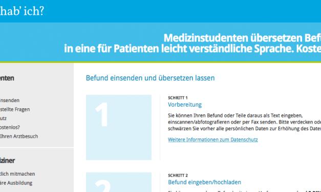 Kostenlose Übersetzung von Befunden – washabich.de
