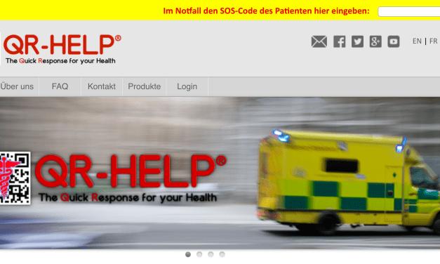 QR-Code für Notfallinformationen in 8 Sprachen