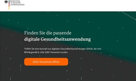 Das DiGA-Verzeichnis startet – die DiGA-Detailseite