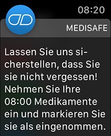 Watch-App für die Medikamenten-Einnahme