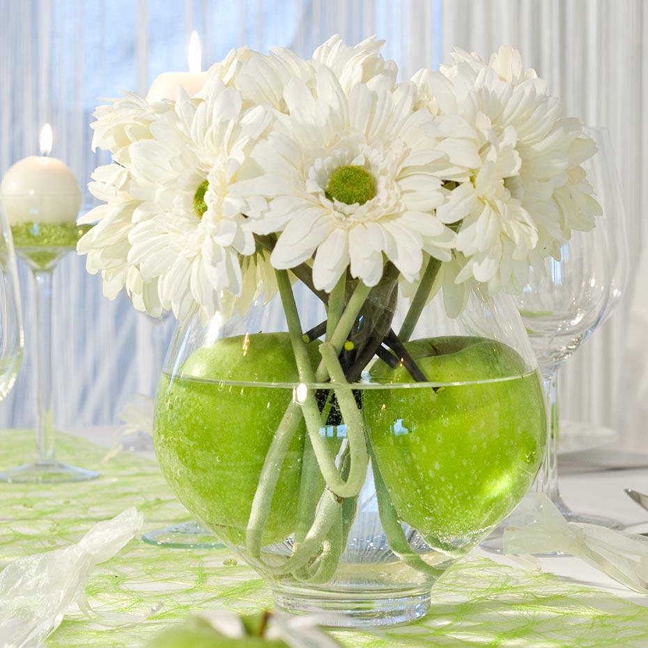 Sommerliche Hochzeitsdeko in Apfelgruen  Ratgeber
