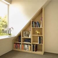 Bücherregal unter der Dachschräge   meine möbelmanufaktur