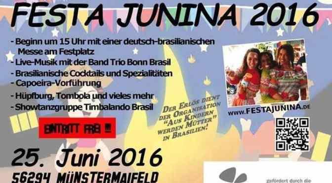 Wunderschön – die Festa Junina, Brasilianisches Junifest in Münstermaifeld