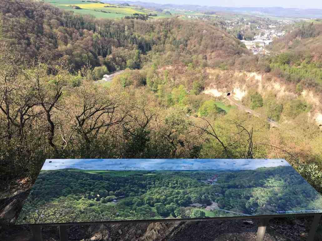 Aussicht vom Traumpfad Höhlen- und Schluchtensteig