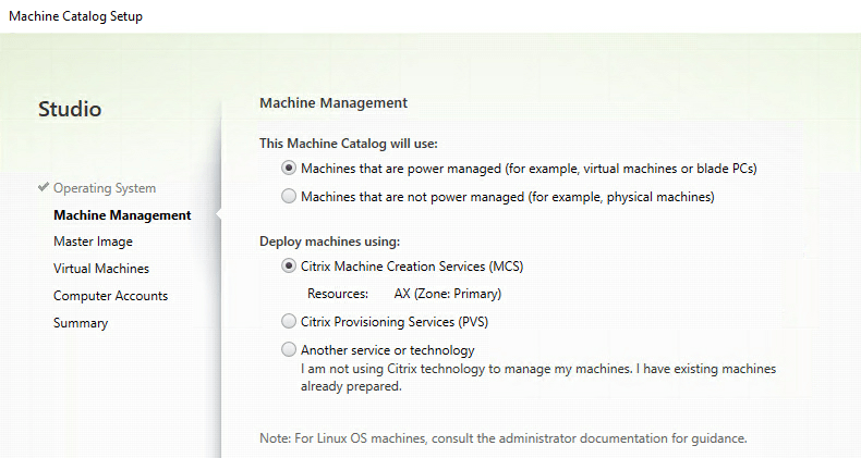 Machine Management - Power managed - Machine Creation Services