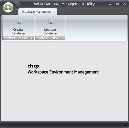 WEM Database Management Utility