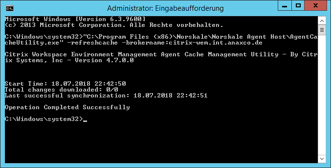 Update Citrix Workspace Environment Management (WEM) from 4