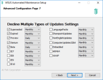 Decline Multiple Types of Updates Settings
