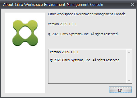 Update Citrix Workspace Environment Management (WEM) to 2009 (2009.1.0.1)