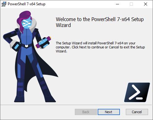 PowerShell 7 x64 Setup Wizard