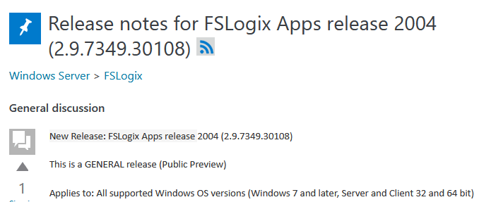 Release of FSLogix Apps release 2004 (2.9.7349.30108)