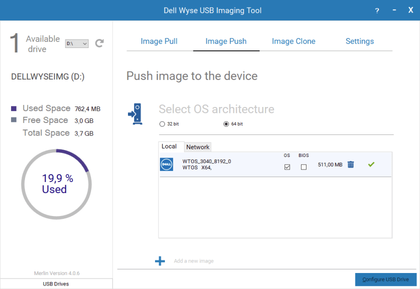 Dell Wyse USB Imaging Tool