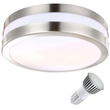 10 Watt LED Decken Lampe Auenbereich Edelstahl IP44