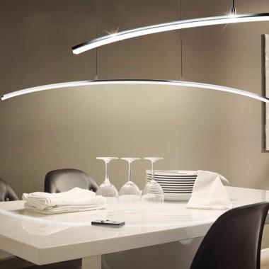 LED Design Hnge Leuchte 14 Watt Pendel Lampe gebogen