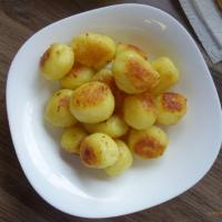 Röstkartoffeln in Zucker karamellisiert
