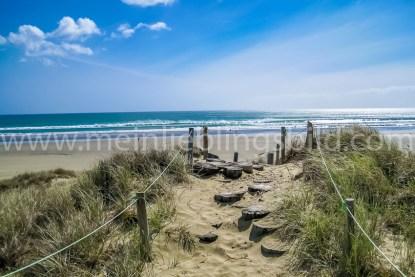 Leinwand, Alu Dibond, Acryl Neuseeland - Ninety Mile Beach