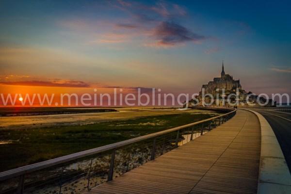 Fotos Mont Saint Michel kaufen Acryl Leinwand Alu Dibond