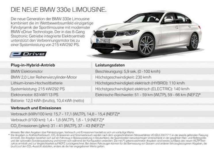 neuer BMW 330e