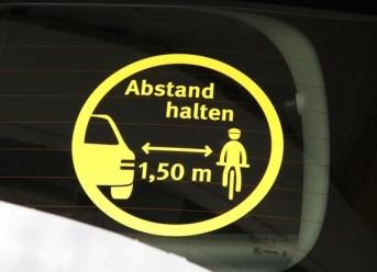 Autoaufkleber für sicheres Verhalten im Straßenverkehr