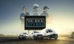 """Mercedes-Benz Vans startet europaweite Kampagne """"You rock, let's roll!"""""""