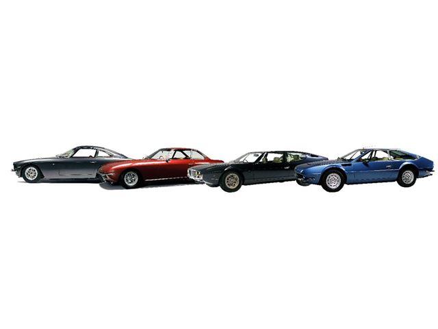 Von links: 400 GT – Islero – Espada – Jarama