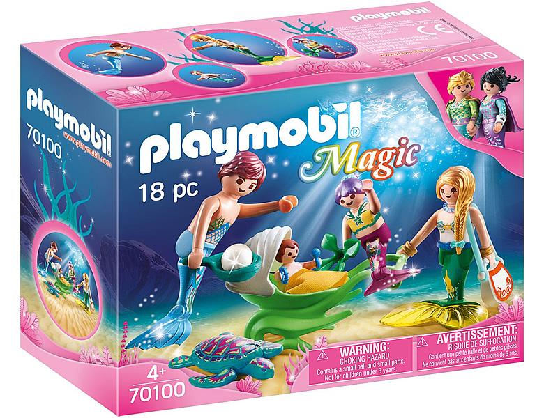 PLAYMOBIL Magic Familie mit MuschelKinderwagen 70100