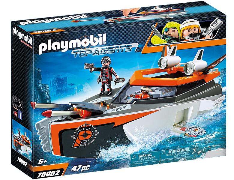 PLAYMOBIL Top Agents Spy Team Turboship 70002