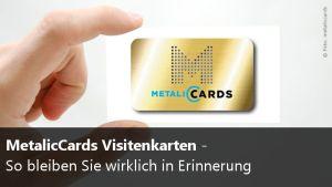 Visitenkarten aus Metall