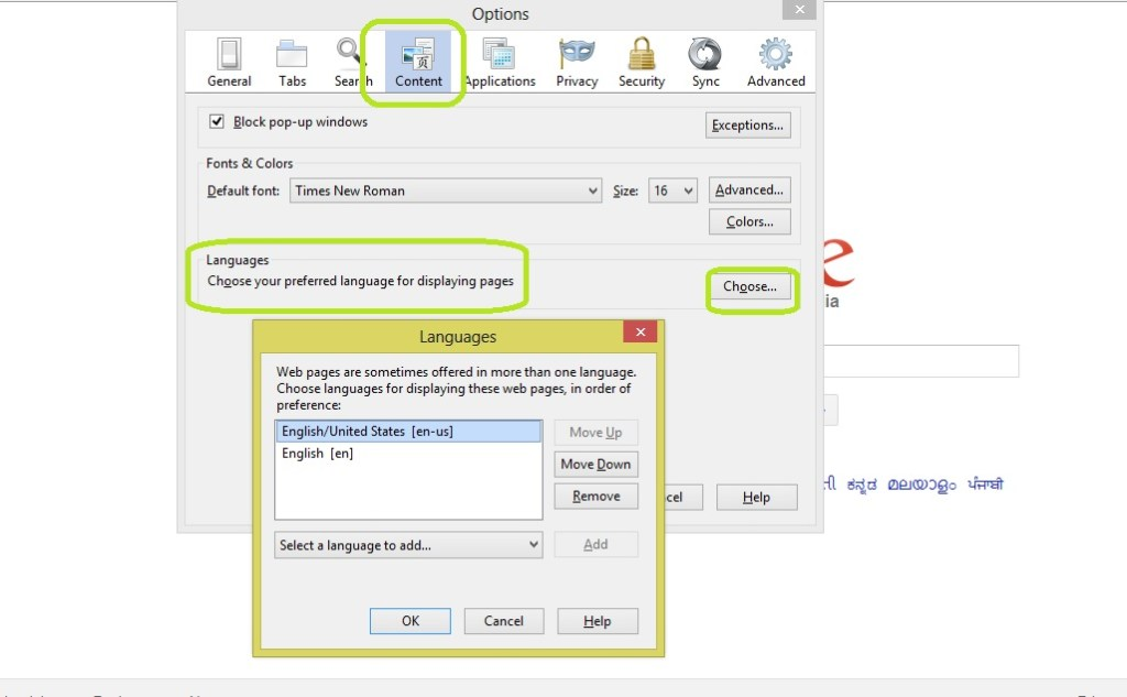 How To Change Default Language In Mozilla Firefox