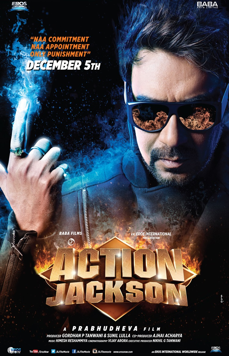 Action Jackson Movie Poster Ajay Devgan
