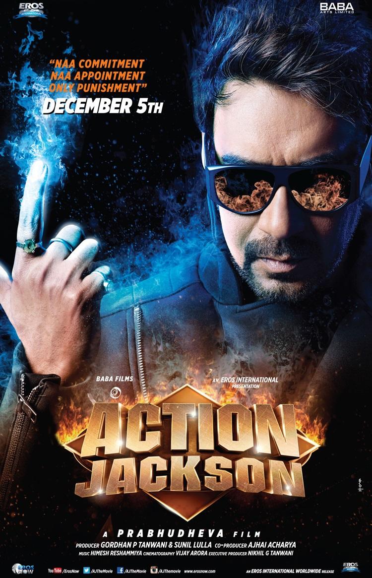 Action Jackson Movie Poster Ajay Devgan