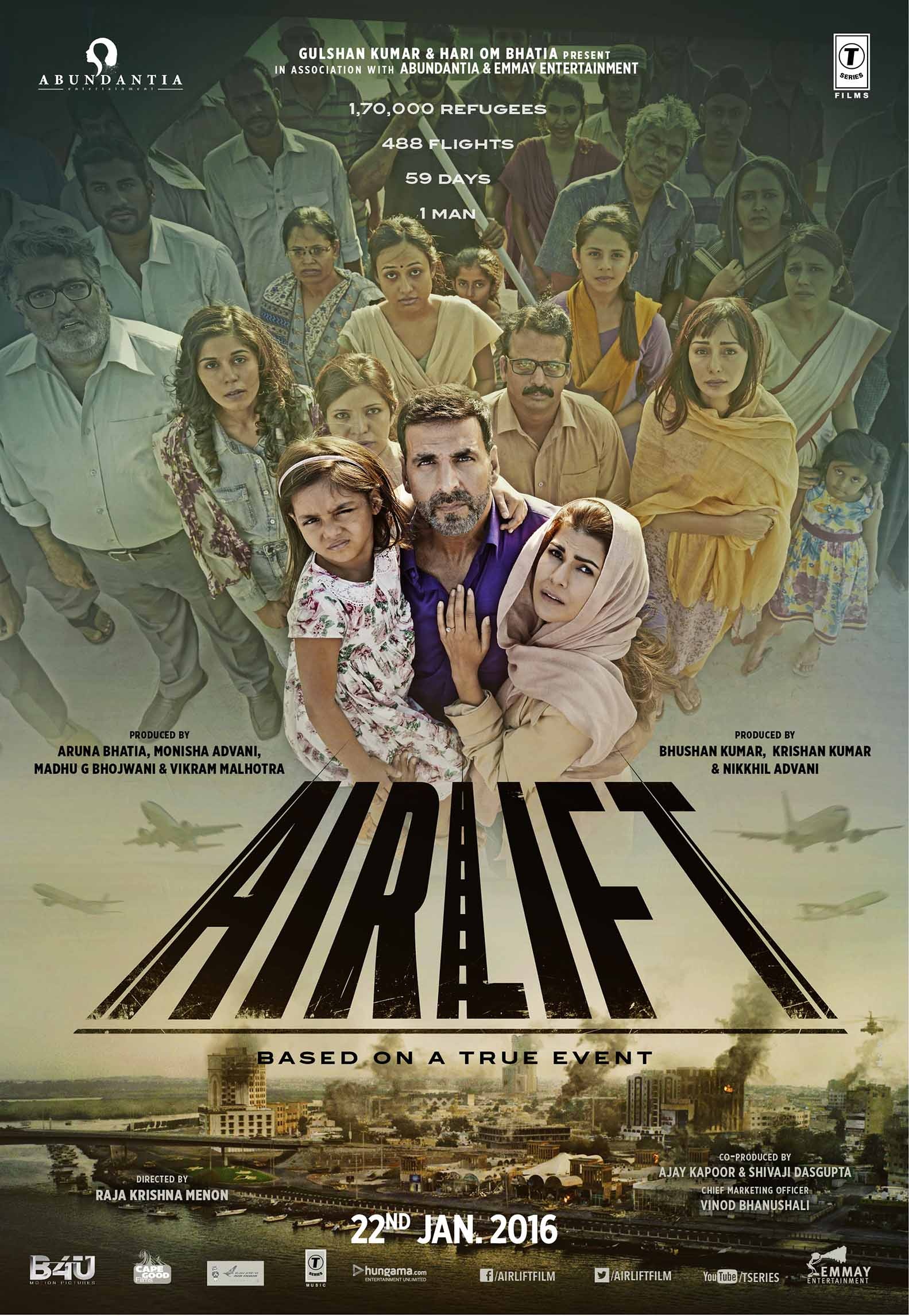 Airlift Movie Poster Akshay Kumar - Full HD Wallpaper
