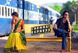 Chennai Express Movie Poster - Deepika Padukone And Shah Rukh Khan