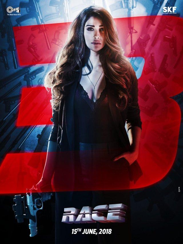 Daisy Shah as Sanjana - Sizzling Sanjana Waiting To Explode - Race 3 Poster