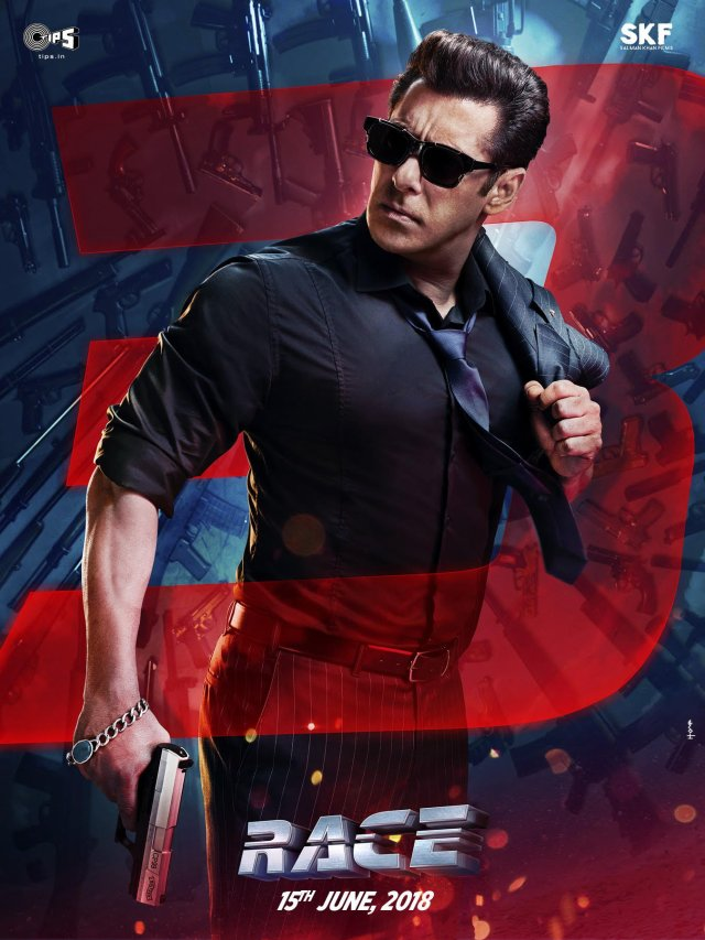 Salman Khan as Sikander -Selfless Over Selfish - Race 3 Official Poster