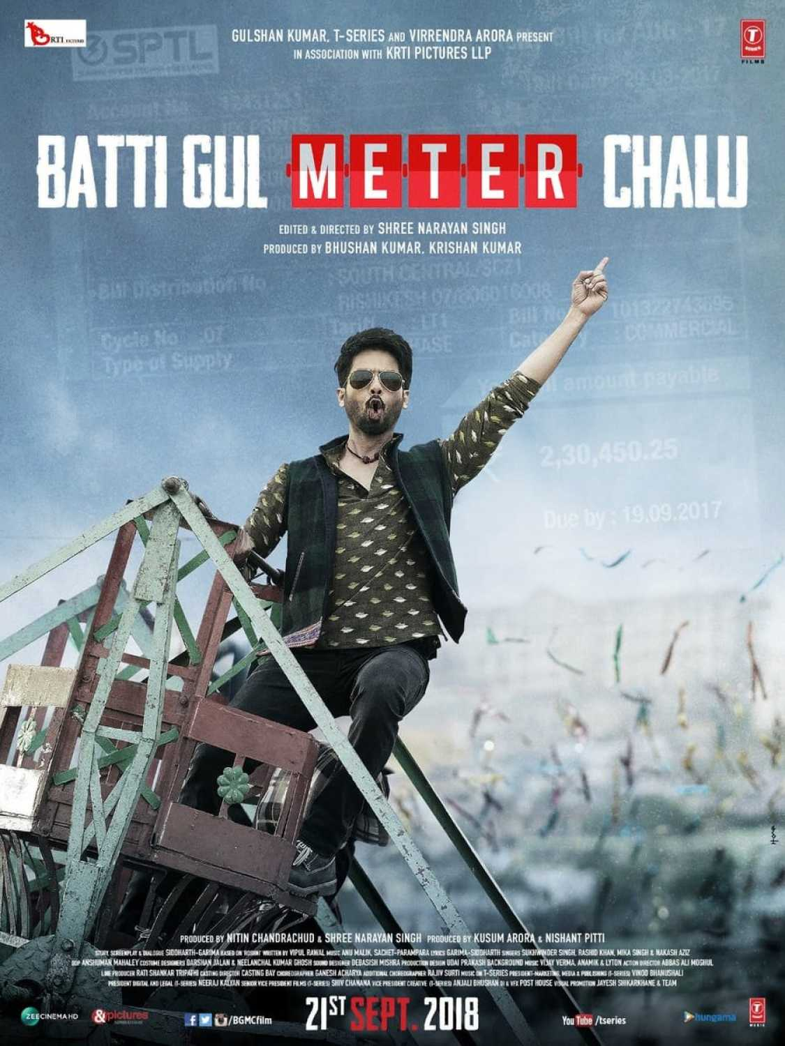 Batti Gul Meter Chalu Movie Dialogue Poster Shahid Kapoor
