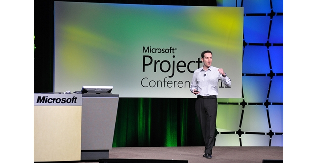 Ludo Hauduc at Keynote of Microsoft Project Conferenece 2012