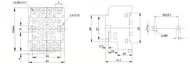 China 11 Pin Relay Base Manufacturers and Suppliers