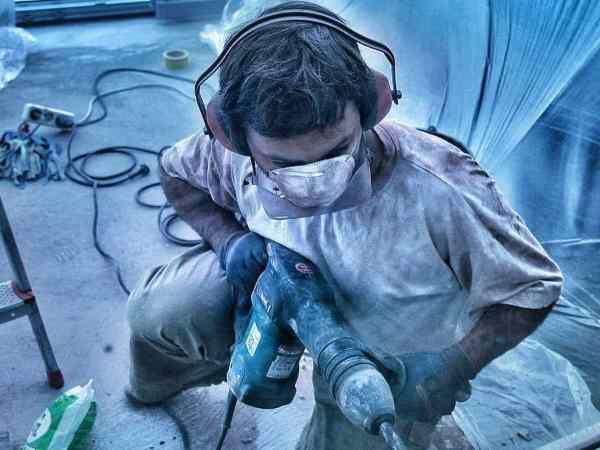 Abbruchhammer Gehörschutz