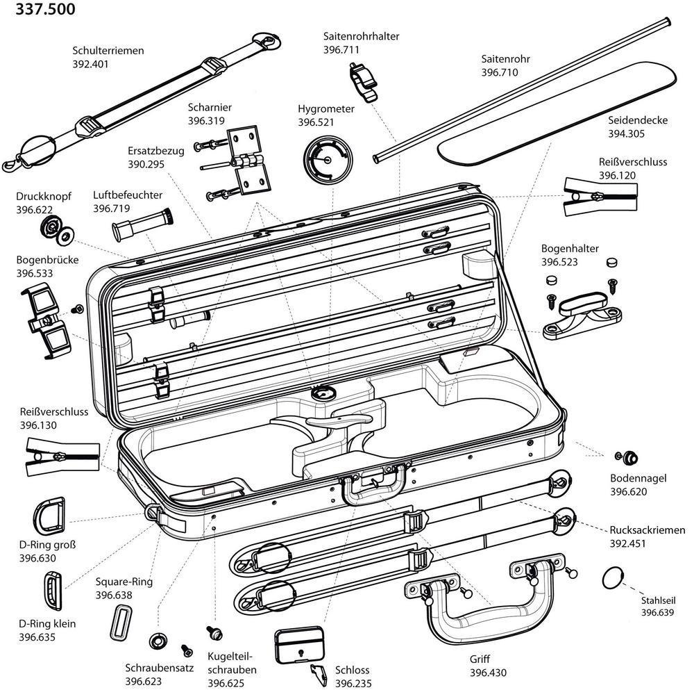 hight resolution of spare parts for original jaeger double violin case prestige line