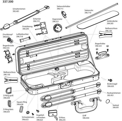 small resolution of spare parts for original jaeger double violin case prestige line