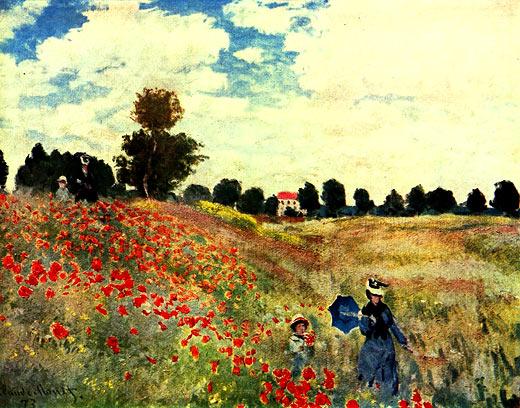MEISTERWERKEONLINEDE  Das Mohnfeld Claude Monet